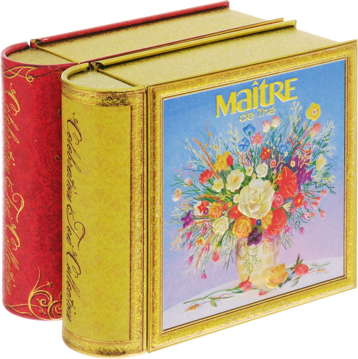 Maitre С праздником набор черного листового чая, 100 гбаж048Продолжение подарочной коллекции серии книг-малышек «Celebration tea collection». Весна – это время, когда природа просыпается и дарит нам лучшее признание в любви: цветы. Две книжки оформлены в единой спайке.