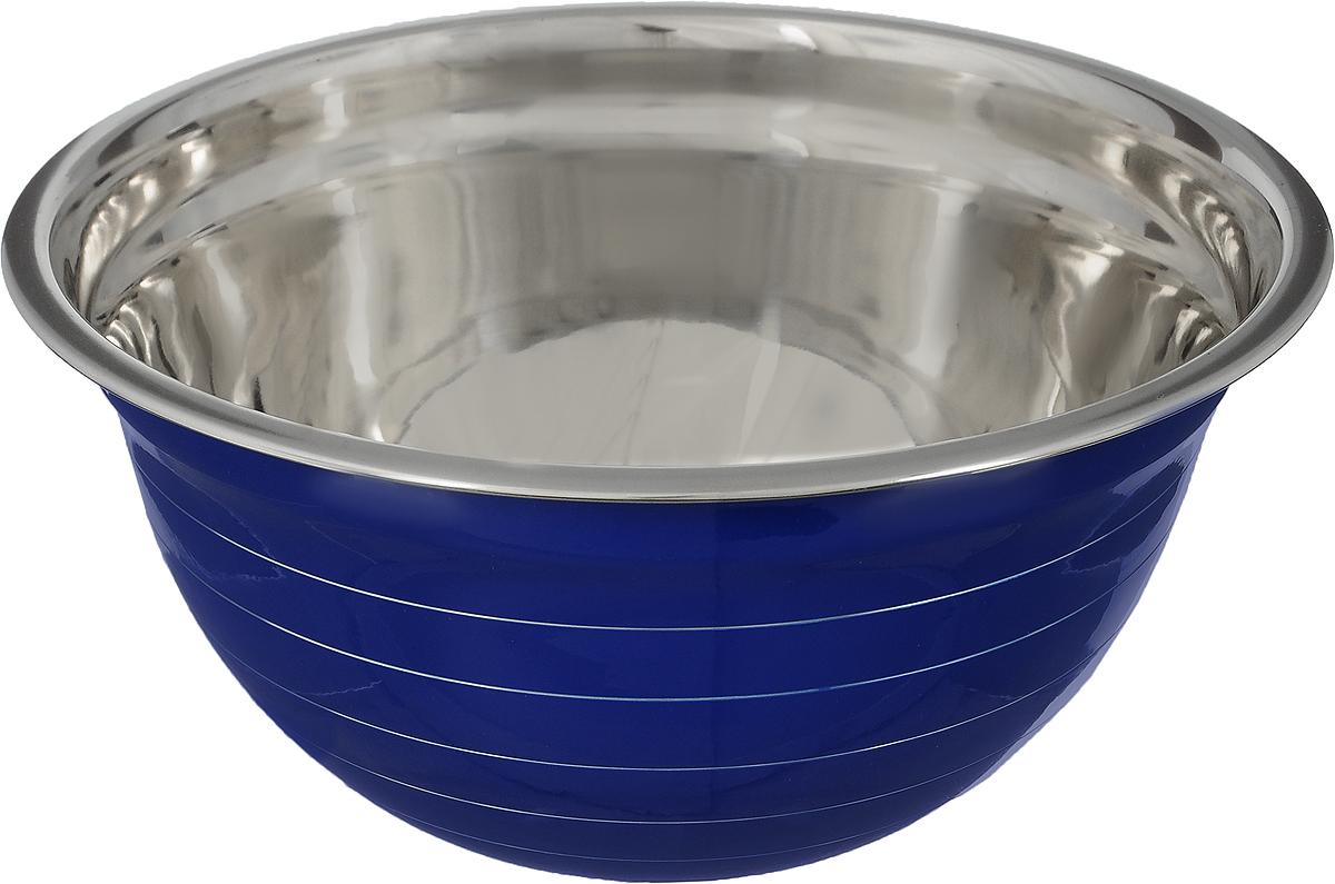 Миска Mayer & Boch, цвет: синий, стальной, диаметр 26 см22747_синийМиска Mayer & Boch изготовлена из качественной нержавеющей стали. Изделие имеет внешнее эмалированное покрытие. Используется для сервировки и приготовления салатов и других блюд, замешивания теста. Такая миска пригодится на любой кухне и поможет вам в приготовлении пищи. Диаметр (по верхнему краю): 26 см. Высота стенки: 12,5 см.