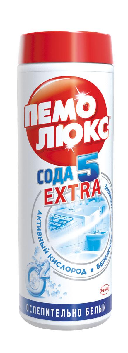 Чистящее средство Пемолюкс Сода 5 Экстра Ослепительно белый 480г935070Уникальная формула Пемолюкс Ослепительно Белый с содой, мягким абразивом и активным кислородом поможет вернуть первоначальную белизну поверхностям. Активный кислород борется со сложными загрязнениями, такими как пятна от чая, кофе и ягод. Пемолюкс не содержит опасных химикатов и подходит для чистки керамических, эмалированных, металлических и других твердых поверхностей на кухне, в ванной и в прочих помещениях. Состав: Товар сертифицирован.