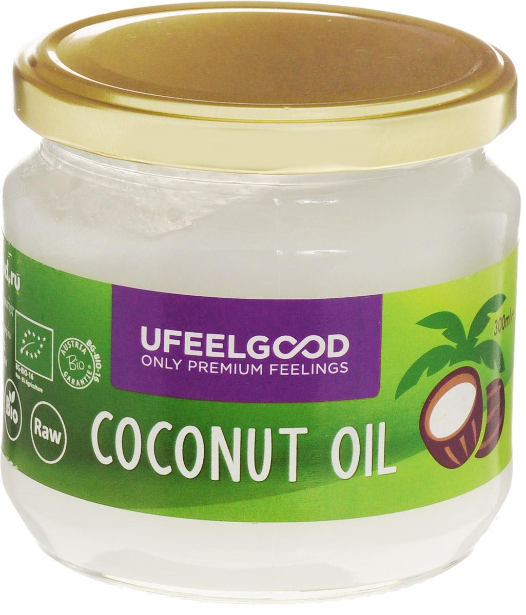 UFEELGOOD Coconut Oil кокосовое масло органическое, 300 мл4680016091382Кокосовое масло идеально подходит для приготовления пищи, так как его молекулы достаточно стабильны, чтобы выдерживать нагрев, не окисляясь. Также масло можно использовать для наружного применения: массаж с ароматерапией, различные маски насыщают, увлажняют и охлаждают кожу, оказывая противовоспалительное действие. Применение кокосового масла уменьшает симптомы кожных заболеваний, поддерживает естественный биохимический баланс кожи, помогает устранить сухость и шелушение, препятствует образованию морщин, дряблости кожи и пигментных пятен.