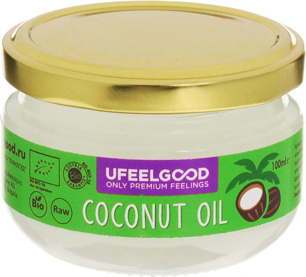 UFEELGOOD Coconut Oil кокосовое масло органическое, 100 мл4680016091399Кокосовое масло идеально подходит для приготовления пищи, так как его молекулы достаточно стабильны, чтобы выдерживать нагрев, не окисляясь. Также масло можно использовать для наружного применения: массаж с ароматерапией, различные маски насыщают, увлажняют и охлаждают кожу, оказывая противовоспалительное действие. Применение кокосового масла уменьшает симптомы кожных заболеваний, поддерживает естественный биохимический баланс кожи, помогает устранить сухость и шелушение, препятствует образованию морщин, дряблости кожи и пигментных пятен.