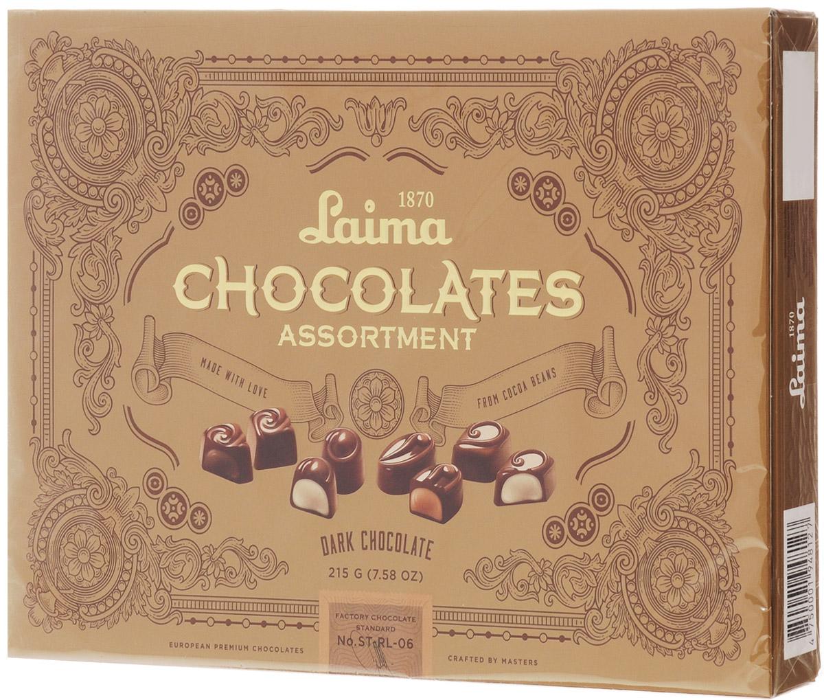Laima Книги Ассорти конфет в темном шоколаде, 215 г