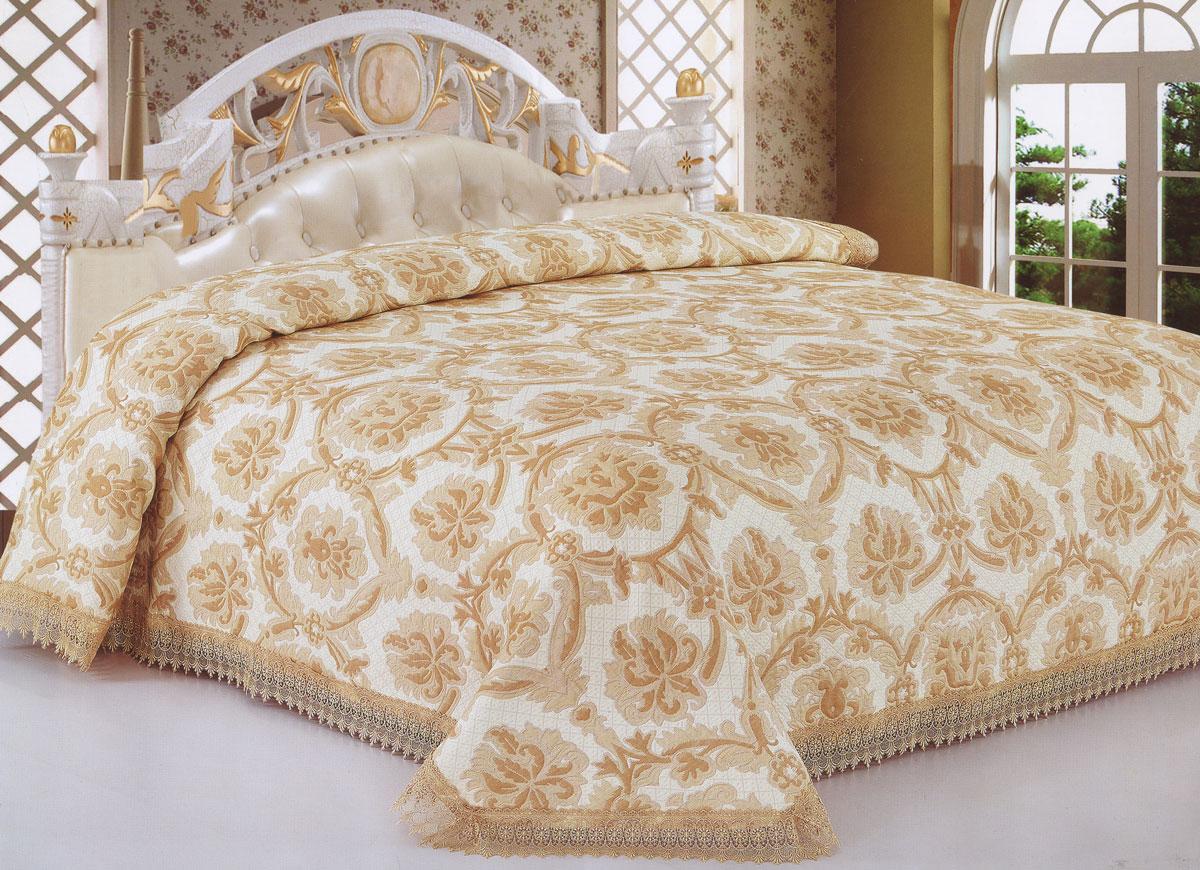 Покрывало гобеленовое SL, цвет: коричневый, 220 х 240 см 1011510115Гобеленовое покрывало Soft Line, выполненное из полиэстера, гармонично впишется в интерьер вашего дома и создаст атмосферу уюта и комфорта. Покрывало украшено изысканным орнаментом и декорировано кружевом. Высочайшее качество материала гарантирует безопасность не только взрослых, но и самых маленьких членов семьи. Покрывало может подчеркнуть любой стиль интерьера, задать ему нужный тон - от игривого до ностальгического. Покрывало - это такой подарок, который будет всегда актуален, особенно для ваших родных и близких, ведь вы дарите им частичку своего тепла! Покрывало упаковано в подарочную коробку в виде чемоданчика. Soft Line предлагает широкий ассортимент высококачественного домашнего текстиля разных направлений и стилей. Это и постельное белье из тканей различных фактур и орнаментов, а также мягкие теплые пледы, красивые покрывала, воздушные банные халаты, текстиль для гостиниц и домов отдыха, практичные наматрасники, изысканные шторы,...