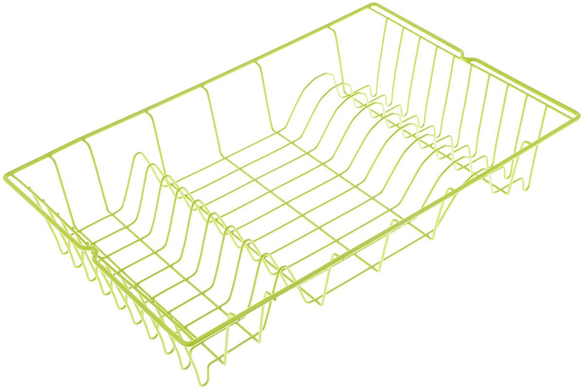 Сушилка для посуды Metaltex Germatex, цвет: салатовый, 48 х 30 х 10 см32.01.45/94-528_зеленыйСушилка для посуды Metaltex Germatex изготовлена из стали, окрашенной краской с содержанием эпоксидного порошка. Изделие представляет собой решетку с ячейками для тарелок и местом для кружек. Сушилка Metaltex Germatex не займет много места на вашей кухне. Вы сможете разместить на ней большое количество предметов. Компактные размеры и оригинальный дизайн выделяют эту сушилку из ряда подобных.