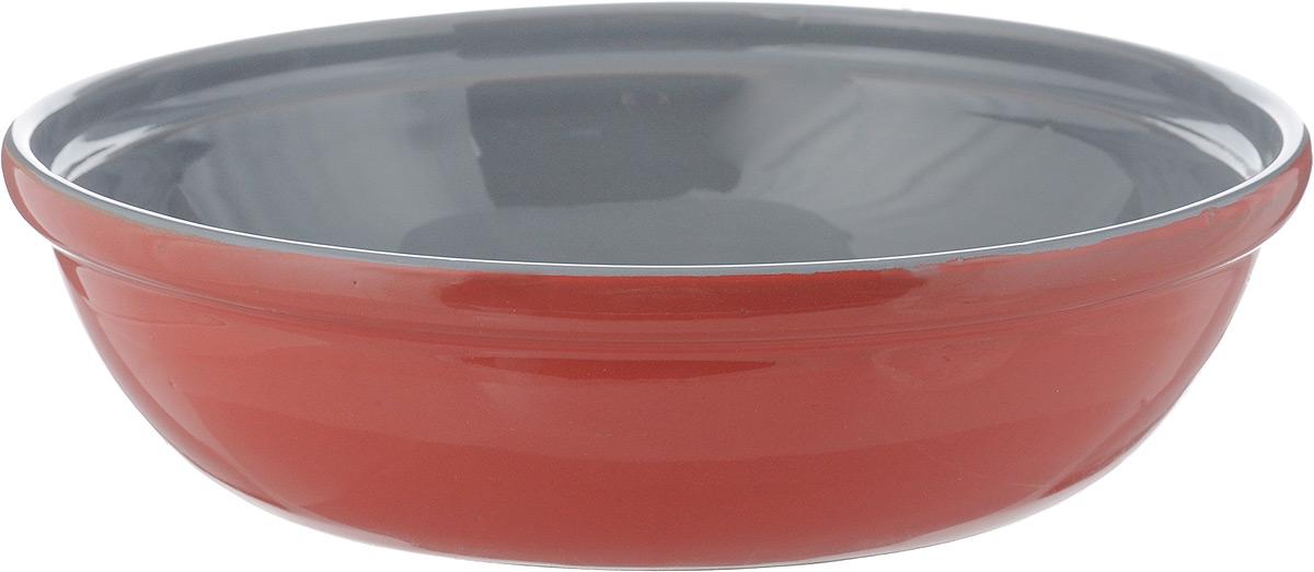 Салатник Борисовская керамика Модерн, цвет: красный, серый, 1 лРАД00000830_красный, серыйСалатник Борисовская керамика Модерн выполнен из керамики, произведенной из экологически чистой красной глины с покрытием пищевой глазурью. Изделие можно использовать для подачи супов, каш, мюсли, хлопьев с молоком, салатник также подойдет для сервировки салатов, закусок, соусов и многого другого. Посуда Борисовская керамика подчеркнет прекрасный вкус хозяйки и станет отличным подарком. Можно использовать в духовке и микроволновой печи. Диаметр салатника (по верхнему краю): 21,5 см. Высота салатника: 5,5 см.