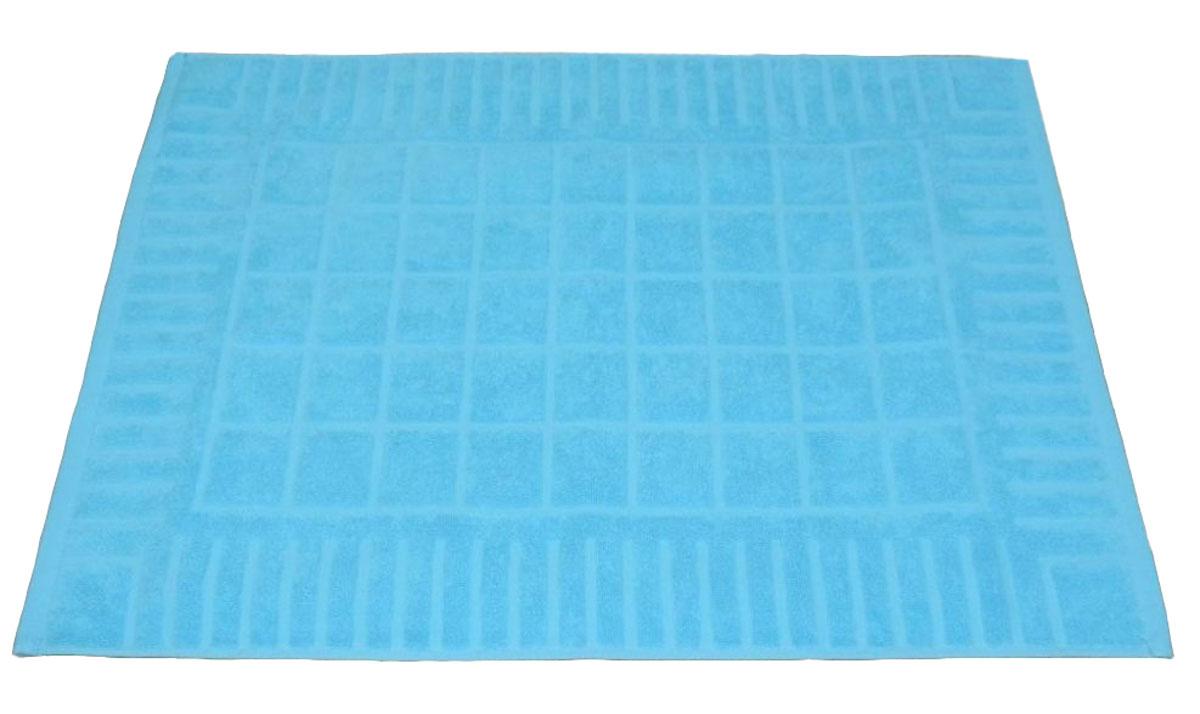 Коврик для ванной Toalla, цвет: голубой, 50 x 70 см9231113Машинная стирка при 40 градусах. Перед использованием рекомендуется постирать.