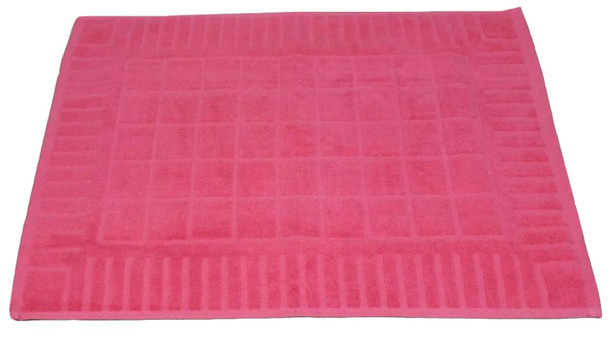 Коврик для ванной Toalla, цвет: ягодный, 50 x 70 см9231110Машинная стирка при 40 градусах. Перед использованием рекомендуется постирать.