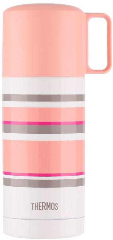 Термос Thermos, цвет: бело-розовый, 0,35 л. FEJ-353428080Данная модель обладает взрывной палитрой цвета от консервативного кофейного до яркого многообразия радужных оттенков. Удачно сочетаются конструктивные особенности чашки-крышки и пробки кнопочного типа. Чашку очень удобно держать как детям, так и прелестным дамам, поскольку именно для них эта модель будет наиболее привлекательна. Пробка откидывается одним нажатием руки благодаря встроенной пружине.