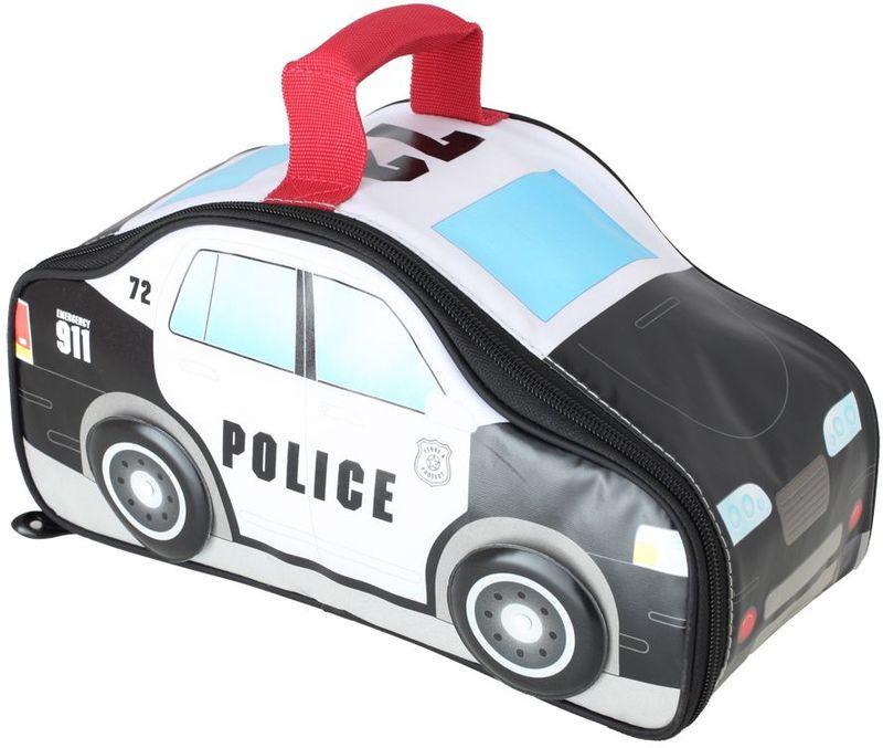 Термосумка детская Thermos Police Car Novelty, цвет: черно-белый, 5 л416131Сумка для перевозки и хранения обеда Вашего ребенка. Колеса машины вращаются.