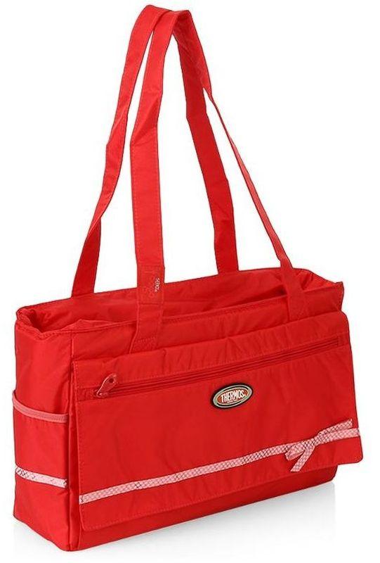 Термосумка Thermos Foogo Large Diaper. Fashion, цвет: красный, 10 л211620Большая спортивная сумка-термос для мамы. Сумка оснащена большим количеством карманов и отделений. Дно сумки на молнии, служит дополнительным отделением, которое укомплектовано многоразовой пеленкой. Снаружи сумки, по бокам два отсека.