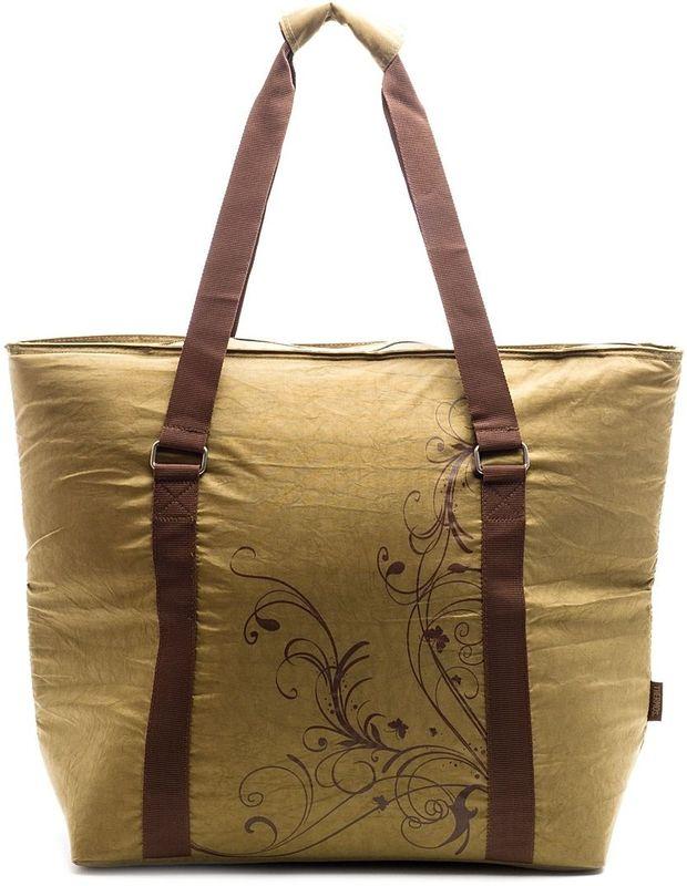 Термосумка Thermos Freezer Tote, цвет: коричневый, 27 л446435Складная сумка-термос, изобретенная японскими инженерами, эта легкая и компактная сумка-термос, используется во время совершения покупок для сохранения свежести и температуры продуктов. Сумка выполнена в серой цветовой гамме с розовой декоративной отстрочкой и растительным орнаментом. Переносить сумку можно держа ее не только в руках, но и на плече. Застежка молния создает необходимые условия для изоляции, а внутренний изолирующий слой позволяет сохранить температуру и свежесть продуктов длительное время.