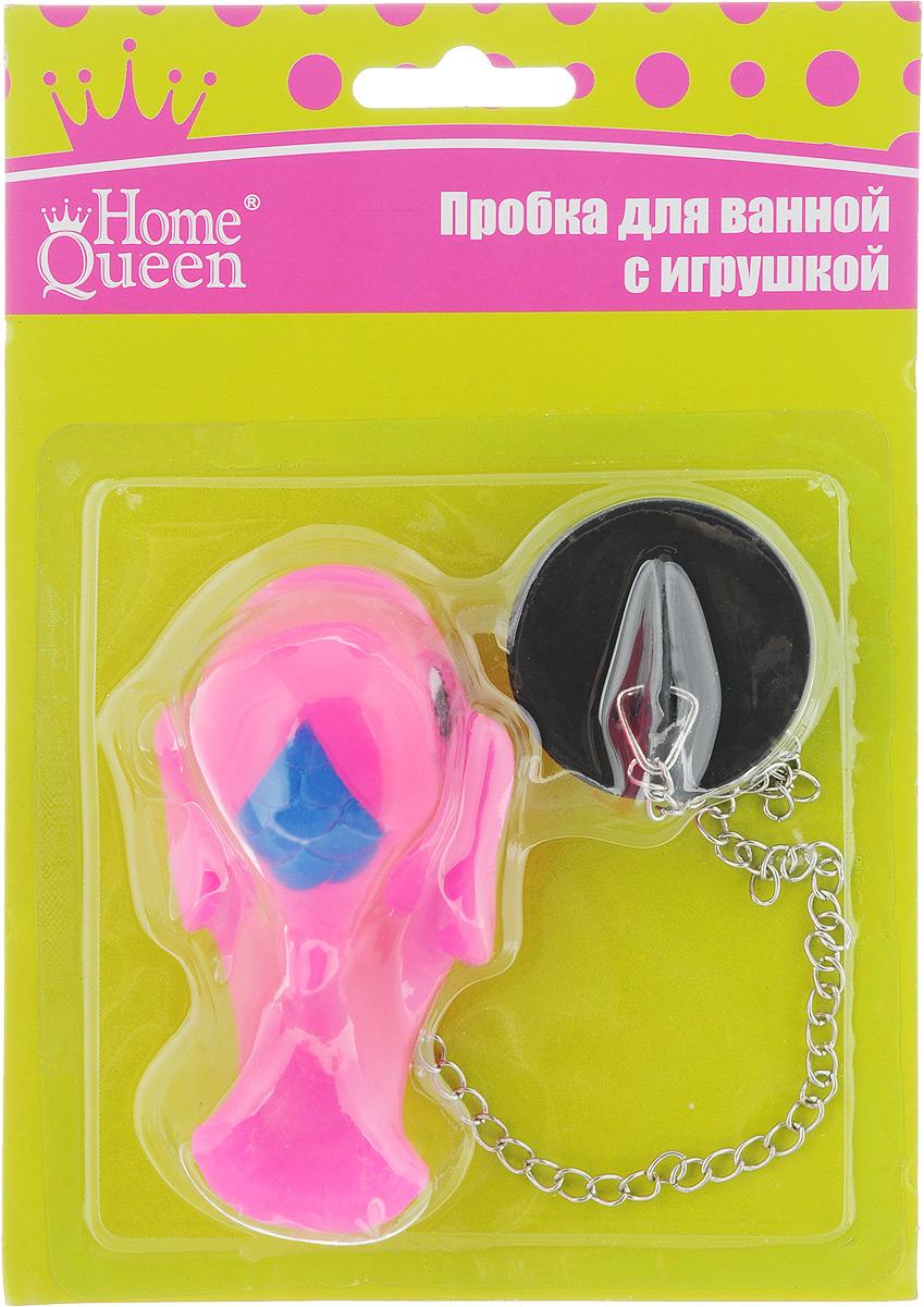 Пробка для ванны Home Queen Дельфин, цвет: розовый52517_розовыйПробка для ванны Home Queen Дельфин изготовлена из полипропилена. Пробка оснащена цепочкой, на конце которой располагается забавная игрушка. Потянув за игрушку, вы легко вытащите пробку из ванны. Этот яркий аксессуар станет развлечением для вашего ребенка во время купания и приятным дополнением к интерьеру ванной комнаты. Размер пробки: 4 х 4 х 1,5 см. Размер игрушки: 9 х 5 х 5 см.