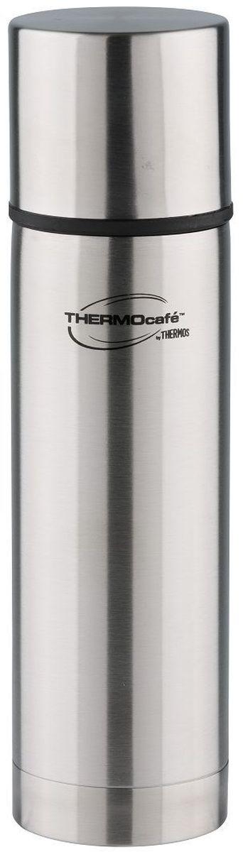 Термос Thermocafe By Thermos, цвет: стальной, 0,36 л. MF-36271716Классический термос практичен и удобен в ежедневном использовании. Снабжен надежной пробкой кнопочного типа. Теплоизолированная крышка- чашка позволит насладиться любимым напитком.