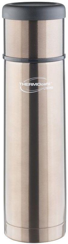 Термос Thermocafe By Thermos, цвет: серый, 0,5 л. EveryNight-50271877Идеальный выбор, чтобы взять с собой горячий кофе, ледяной чай или другой любимый напиток Крышка термоса служит кружкой для питья. Ее конструкция не дает внешней поверхности нагреваться. Пробка позволяет добраться до содержимого, не извлекая ее полностью, нужно только повернуть пробку не откручивая целиком.Строение пробки не позволит случайно пролиться жидкости и помогает сохранить температуру содержимого долгое время.