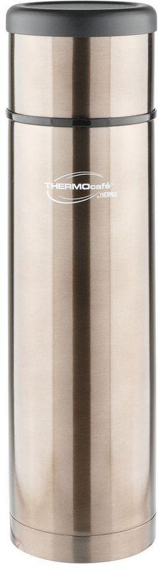 Термос Thermocafe By Thermos, цвет: серый, 1 л. EveryNight-100272157Идеальный выбор, чтобы взять с собой горячий кофе, ледяной чай или другой любимый напиток Крышка термоса служит кружкой для питья . Ее конструкция не дает внешней поверхности нагреваться. Пробка позволяет добраться до содержимого, не извлекая ее полностью, нужно только повернуть пробку не откручивая целиком.Строение пробки не позволит случайно пролиться жидкости и помогает сохранить температуру содержимого долгое время.