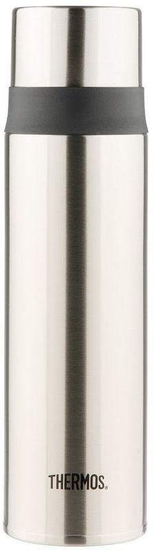 Термос Thermos, цвет: стальной, 0,5 л. FFM-500934420Удобен для использования в движении, в автомобиле. Фиксатор от случайного открытия, пробка откидывается полностью и фиксируется. Чашка–крышка из нержавеющей стали позволит Вам наслаждаться своим напитком, где бы Вы ни были