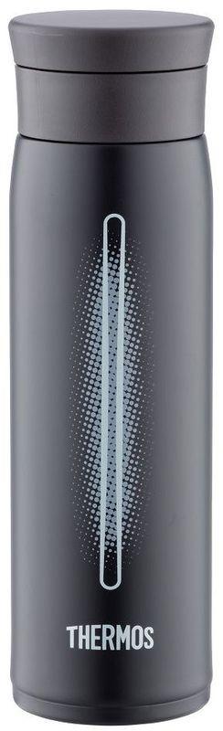 Термос Thermos, цвет: черный, 0.6 л. JMZ600914538Суперлегкий термос - всего 290г. Размеры: 7х7х20. Крышка позволяет использовать лед - при наливании специальное сито не дает кубикам выпасть в чашку.