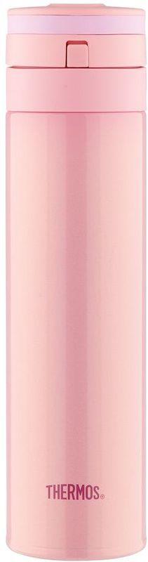 Термос Thermos, цвет: розовый, 0,45 л. JNS-450935540Суперлегкий и супертонкий термос. При объеме 400 ml, весит всего 190г.Фиксатор от случайного открытия, крышка откидывается полностью и фиксируется. Подходит для автомобильных держателей.
