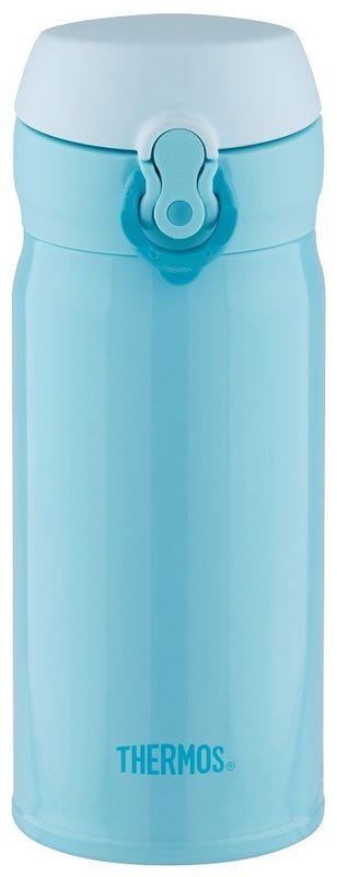 Термос Thermos, цвет: голубой, 0,35 л. JNL-352935496Это серия суперлегких и супертонких (наименьший диаметр) термосов, созданная по последним разработкам специалистов компании Thermos. При объеме 350 ml, термос весит всего лишь 175 г.
