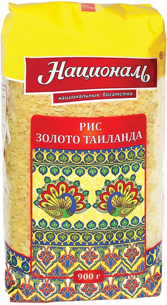 """Таиланд – это родина риса, здесь """"рис – всему голова"""". Длиннозерный, обработанный паром рис – один из самых полезных видов риса, по праву считается настоящим золотом Таиланда. Янтарно-золотистые зерна риса Националь """"Золото Таиланда"""" в готовом виде становятся белоснежными и рассыпчатыми, даже при повторном разогревании. Из риса """"Золото Таиланда"""" вы сможете приготовить любые блюда от гарниров до плова!"""