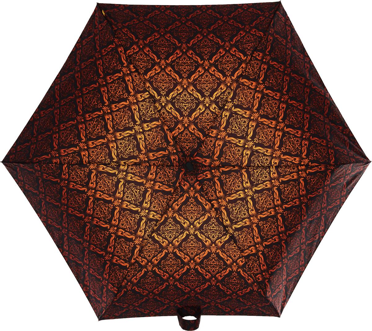 Зонт женский Zest, механический, 5 сложений, цвет: черный, коричневый, красный, оранжевый. 25518-27325518-273Невероятно компактный и легкий зонт Zest имеет 5 сложений. Модель зонта складывается и раскладывается механически. Удобная ручка выполнена из пластика с прорезиненным нанесением, приятна на ощупь. В сложенном состоянии зонт занимает очень мало места, и его удобно будет носить с собой даже в маленькой сумочке. К зонту прилагается чехол.