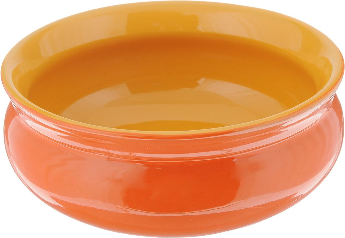 Тарелка глубокая Борисовская керамика Скифская, цвет: оранжевый, желтый, 500 млРАД14458194_оранжевый, желтыйГлубокая тарелка Борисовская керамика Скифская выполнена из керамики, произведенной из экологически чистой красной глины с покрытием пищевой глазурью. Изделие можно использовать для подачи супов, каш, мюсли, хлопьев с молоком. Такая тарелка также подойдет в качестве салатника, емкости для соуса и многого другого. Посуда Борисовская керамика подчеркнет прекрасный вкус хозяйки и станет отличным подарком. Можно использовать в духовке и микроволновой печи. Диаметр тарелки (по верхнему краю): 14 см. Высота тарелки: 6 см.