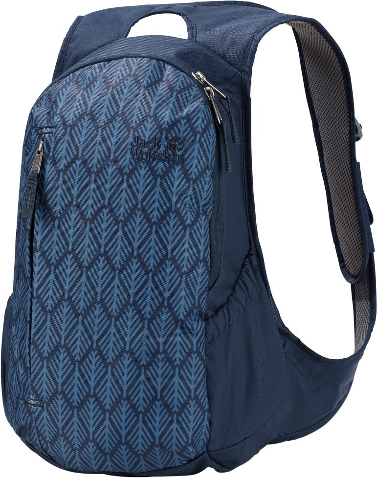 Рюкзак городской Jack Wolfskin Ancona, цвет: синий, 14 л. 2005321-79372005321-7937Изящно скроенный женский городской рюкзак. Удобная поддерживающая система женской формы: ANCONA — небольшой городской женский рюкзак особо узкого кроя. Преимуществами плоской поддерживающей системы SNUGGLE UP WOMEN (СНАГЛ АП ВИМИН) являются широкая площадь опоры рюкзака, а также всесторонние мягкие вставки на плечевых ремнях и местах, вступающих в контакт с одеждой при ношении. Поэтому он очень удобно сидит на спине. В нем реализована наглядная классическая структура: основное отделение, передний карман и два эластичных боковых кармана. В него можно поместить все самое необходимое для времяпрепровождения на открытом воздухе и путешествий.