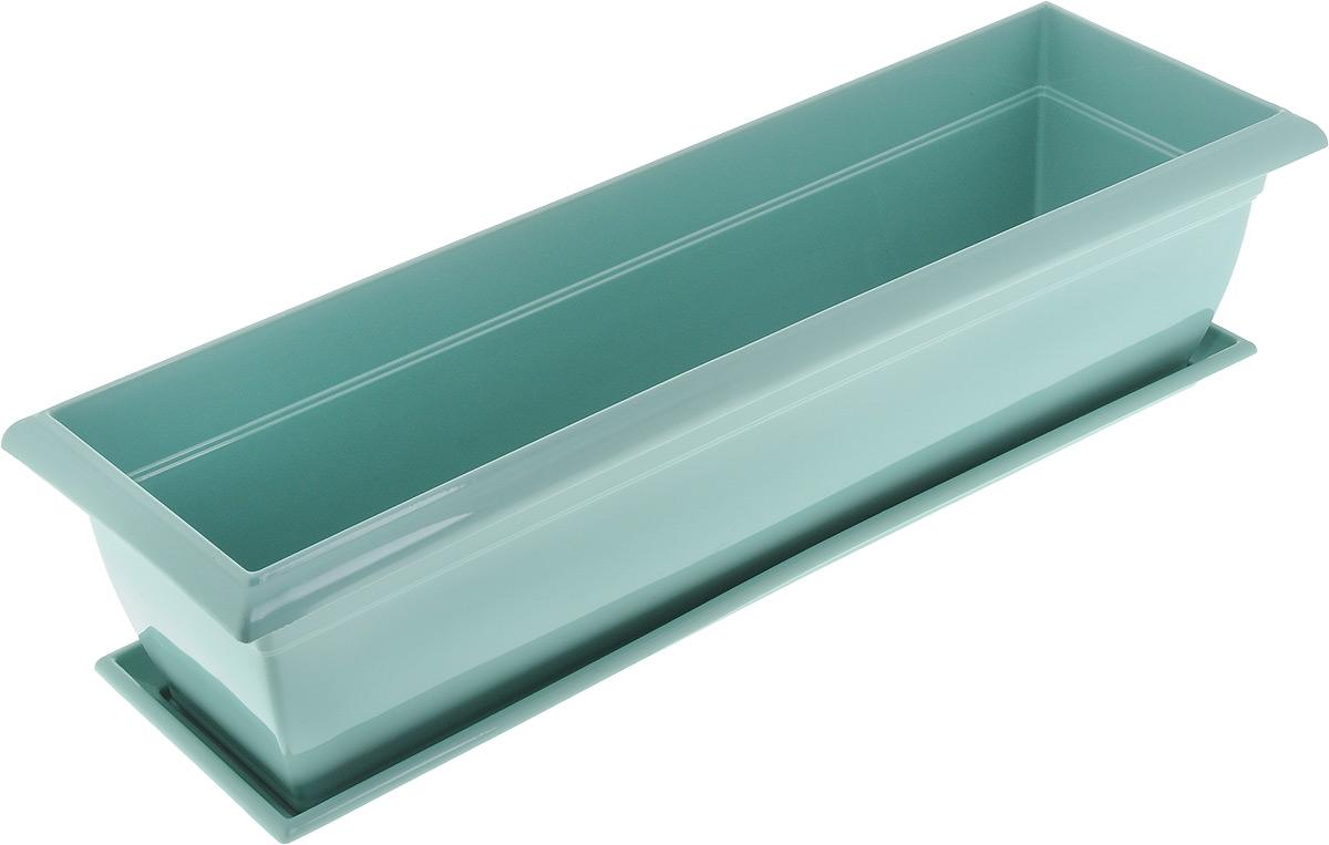 Ящик балконный Santino, с поддоном, 60 х 19 х 15 смЯБ 600_нефритБалконный ящик Santino изготовлен из высококачественного цветного полипропилена и оснащен поддоном. Изделие предназначено для выращивания цветов и рассады как на балконе, так и в комнатных условиях. Размер ящика (с учетом поддона): 60 х 19 х 15 см. Размер поддона: 55,5 х 15 х 3 см.