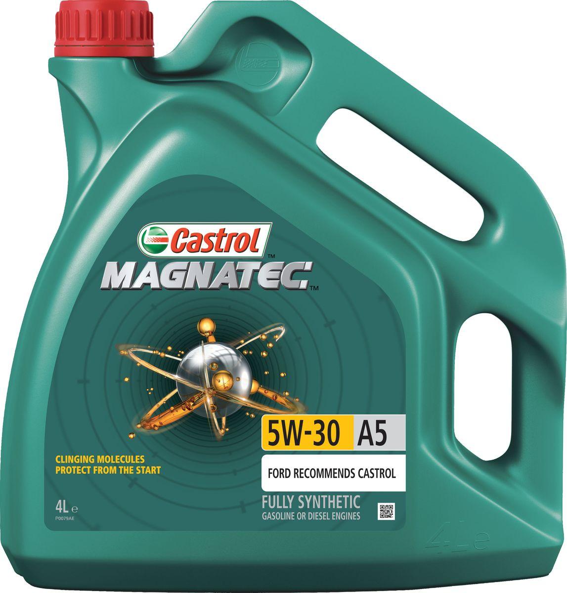 Моторное масло Castrol Magnatec 5W-30 A5, 4 л15583DОписание До 75% износа двигателя происходит во время его пуска и прогрева. Когда двигатель выключен, обычное масло стекает в поддон картера, оставляя важнейшие детали двигателя незащищенными. Молекулы Castrol Magnatec подобно магниту притягиваются к деталям двигателя и образуют сверхпрочную масляную пленку, обеспечивающую дополнительную защиту двигателя в период пуска, когда риск возникновения износа существенно возрастает. Применение Моторное масло Castrol Magnatec 5W-30 A5 предназначено для бензиновых и дизельных двигателей автомобилей, в которых производитель рекомендует использовать смазочные материалы класса вязкости SAE 5W-30, спецификаций ACEA A5/B5, A1/B1, API SN/CF ILSAC GF-4 или более ранних. Castrol Magnatec 5W-30 A5 подходит для применения в двигателях автомобилей Ford, требующих моторные масла спецификаций Ford WSS-M2C913-D, Ford WSS-M2C913-C, Ford WSS-M2C913-B или Ford WSS-M2C913-A. Преимущества Молекулы Castrol Magnatec Intelligent Molecules: ·удерживаются на важнейших...