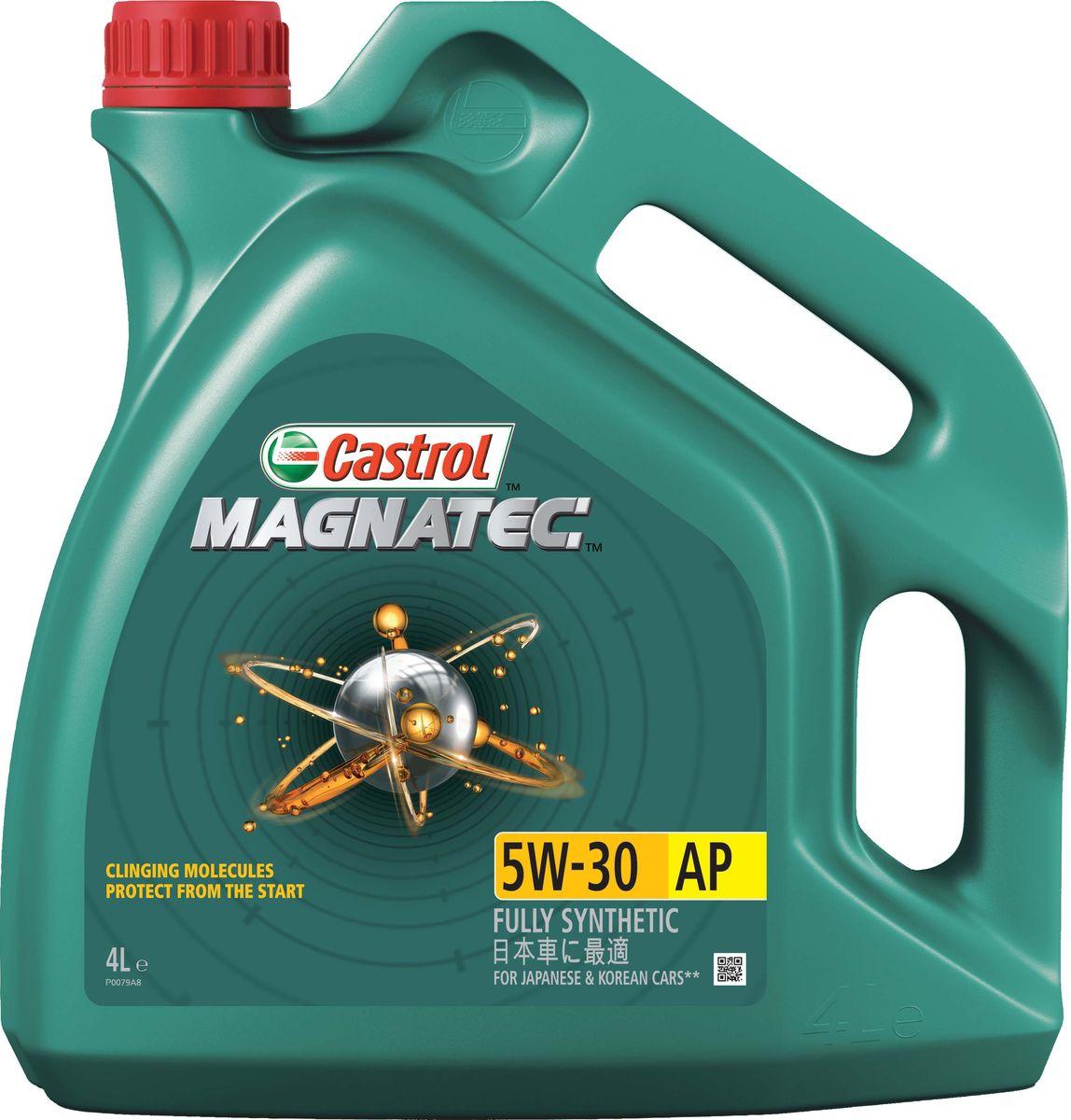 Моторное масло Castrol Magnatec 5W-30 AP, 4 л155BA8Описание До 75% износа двигателя происходит во время его пуска и прогрева. Когда двигатель выключен, обычное масло стекает в поддон картера, оставляя важнейшие детали двигателя незащищенными. Молекулы Castrol Magnatec подобно магниту притягиваются к деталям двигателя и образуют сверхпрочную масляную пленку, обеспечивающую дополнительную защиту двигателя в период пуска, когда риск возникновения износа существенно возрастает. Всесезонное полностью синтетическое моторное масло Castrol Magnatec 5W-30 AP разработано специально для двигателей японских и корейских автопроизводителей. Применение Моторное масло Castrol Magnatec 5W-30 AP подходит для применения в бензиновых двигателях, в которых производитель рекомендует использовать смазочные материалы соответствующие классу вязкости SAE 5W-30 и спецификациям API SN, ILSAC GF-5 или более ранним. Преимущества Молекулы Castrol Magnatec Intelligent Molecules: - удерживаются на важнейших деталях двигателя, когда обычное масло стекает в поддон...