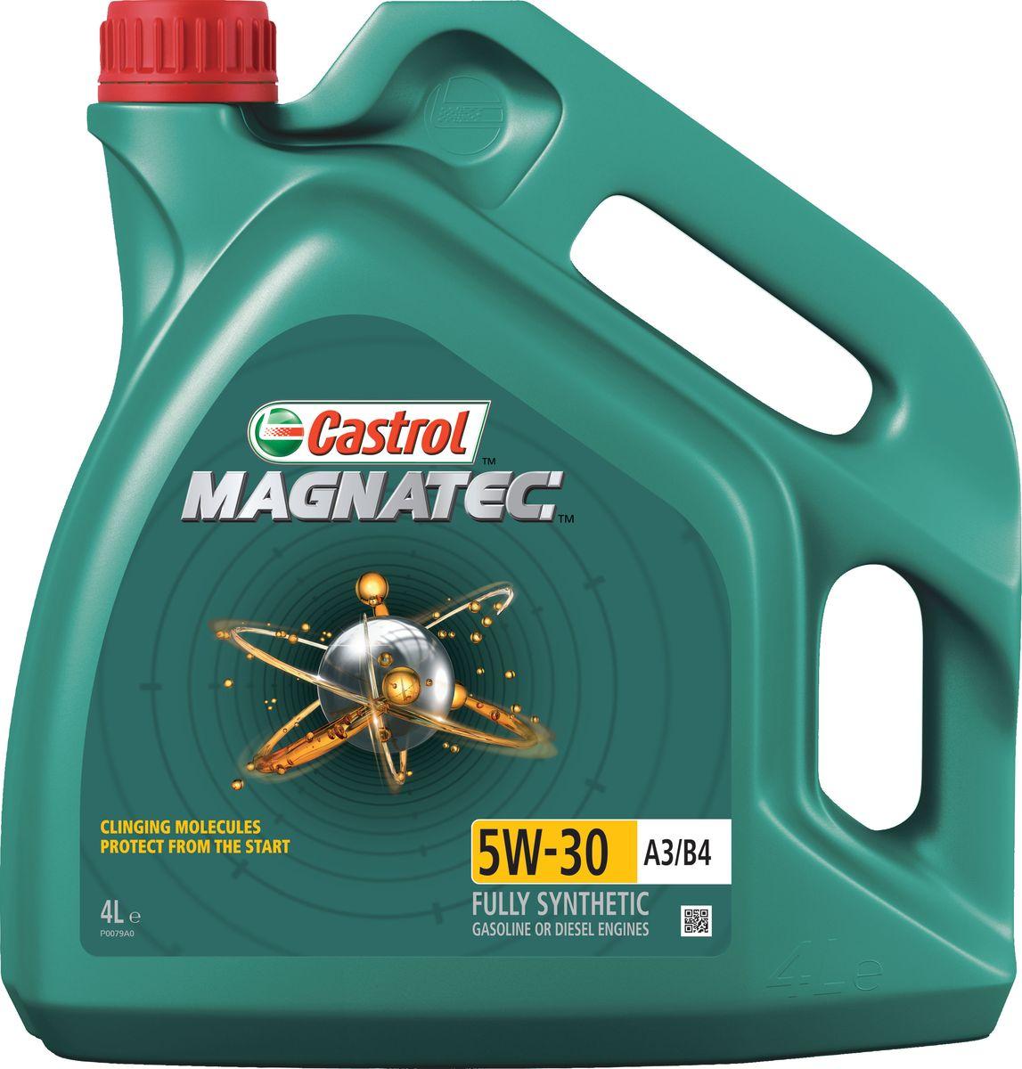 Моторное масло Castrol Magnatec 5W-30 A3/B4, 4 л156ED5Описание До 75% износа двигателя происходит во время его пуска и прогрева. Когда двигатель выключен, обычное масло стекает в поддон картера, оставляя важнейшие детали двигателя незащищенными. Молекулы Castrol Magnatec подобно магниту притягиваются к деталям двигателя и образуют сверхпрочную масляную пленку, обеспечивающую дополнительную защиту двигателя в период пуска, когда риск возникновения износа существенно возрастает. Применение Моторное масло Castrol Magnatec 5W-30 A3/B4 подходит для применения в бензиновых двигателях, в которых производитель рекомендует использовать смазочные материалы, соответствующие классу вязкости SAE 5W-30 и спецификациям API SL/CF, ACEA A3/B3 или A3/B4. Castrol Magnatec 5W-30 A3/B4 одобрено к использованию большинством автопроизводителей (см. раздел «Спецификации» в руководстве по эксплуатации автомобиля). Преимущества Молекулы Castrol Magnatec Intelligent Molecules: - в сочетании с синтетической технологией обеспечивают повышенную защиту при высоко- и...