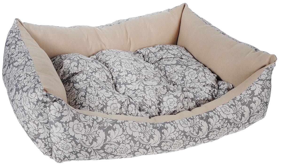 Лежак для собак Happy Puppy Ампир-4, 64 x 49 x 15 смHP-160040-4Мягкий лежак Happy Puppy Ампир-4 обязательно понравится вашему питомцу. Он выполнен из высококачественного хлопка и полиэстера с водоотталкивающей пропиткой, а наполнитель - из мягкого холлофайбера. Такой материал не теряет своей формы долгое время. Лежак оснащен мягкой съемной подстилкой. Высокие бортики обеспечат вашему любимцу уют. За изделием легко ухаживать, его можно стирать вручную. Мягкий лежак станет излюбленным местом вашего питомца, подарит ему спокойный и комфортный сон, а также убережет вашу мебель от шерсти. Размер: 64 х 49 х 15 см.