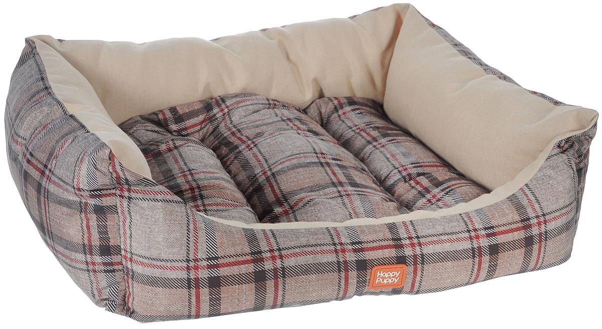 Лежак для собак Happy Puppy Классик-2, 48 х 39 х 15 смHP-170004-2Мягкий лежак Happy Puppy Классик-2 обязательно понравится вашему питомцу. Он выполнен из высококачественного хлопка и полиэстера с водоотталкивающей пропиткой, а наполнитель - из мягкого холлофайбера. Такой материал не теряет своей формы долгое время. Лежак оснащен мягкой съемной подстилкой. Высокие бортики обеспечат вашему любимцу уют. За изделием легко ухаживать, его можно стирать вручную. Мягкий лежак станет излюбленным местом вашего питомца, подарит ему спокойный и комфортный сон, а также убережет вашу мебель от шерсти. Размер: 48 x 39 x 15 см.