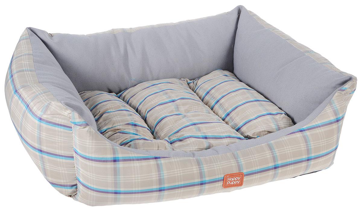 Лежак для собак Happy Puppy Комфорт-2, цвет: бежевый, серый, 48 x 39 x 15 смHP-170006-2Мягкий лежак для собак Happy Puppy Комфорт-2, обязательно понравится вашему питомцу. Он выполнен из высококачественного хлопка и полиэстера с водоотталкивающей пропиткой, а наполнитель - из мягкого холлофайбера. Такой материал не теряет своей формы долгое время. Лежак оснащен мягкой съемной подстилкой. Высокие бортики обеспечат вашему любимцу уют. За изделием легко ухаживать, его можно стирать вручную. Мягкий лежак станет излюбленным местом вашего питомца, подарит ему спокойный и комфортный сон, а также убережет вашу мебель от шерсти. Размер: 48 х 39 х 15 см.