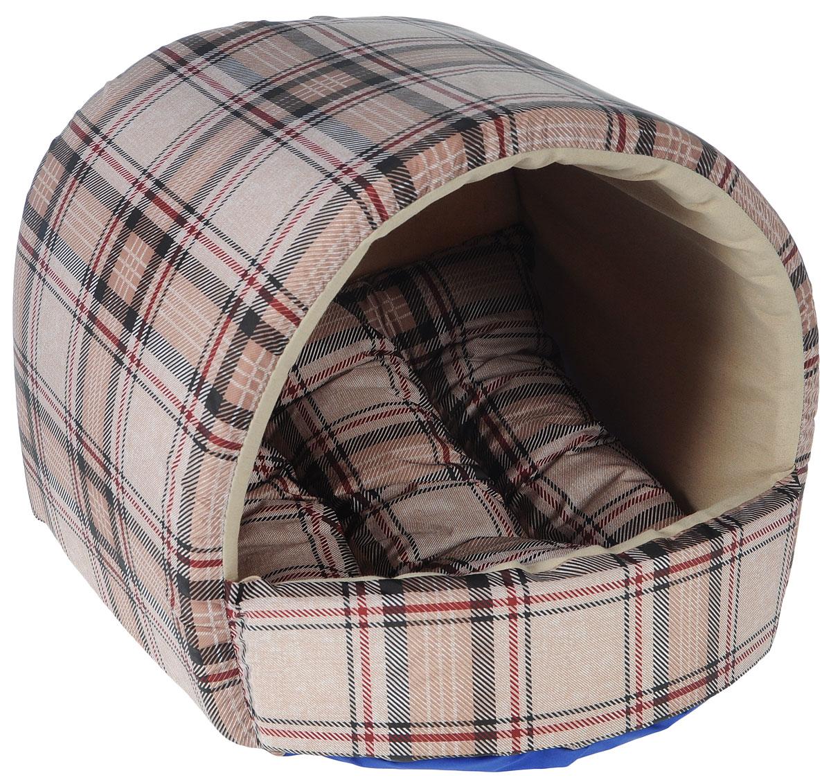 Домик для собак Happy Puppy Классик, 37 x 37 x 40 смHP-170005Домик для собак Happy Puppy Классик обязательно понравится вашему питомцу. Он выполнен из высококачественного хлопка и полиэстера с водоотталкивающей пропиткой. Съемная подстилка с наполнителем из холлофайбера. Такой материал не теряет своей формы долгое время. Домик очень удобный и уютный. Ваш любимец сразу же захочет забраться внутрь, там он сможет отдохнуть и спрятаться. Компактные размеры позволят поместить домик, где угодно, а приятная цветовая гамма сделает его оригинальным дополнением к любому интерьеру. Размер подстилки: 37 х 37 х 5 см, Размер домика: 37 х 37 х 40 см, Внутренняя высота домика (с учетом подстилки): 27 см. Толщина стенки: 3 см.