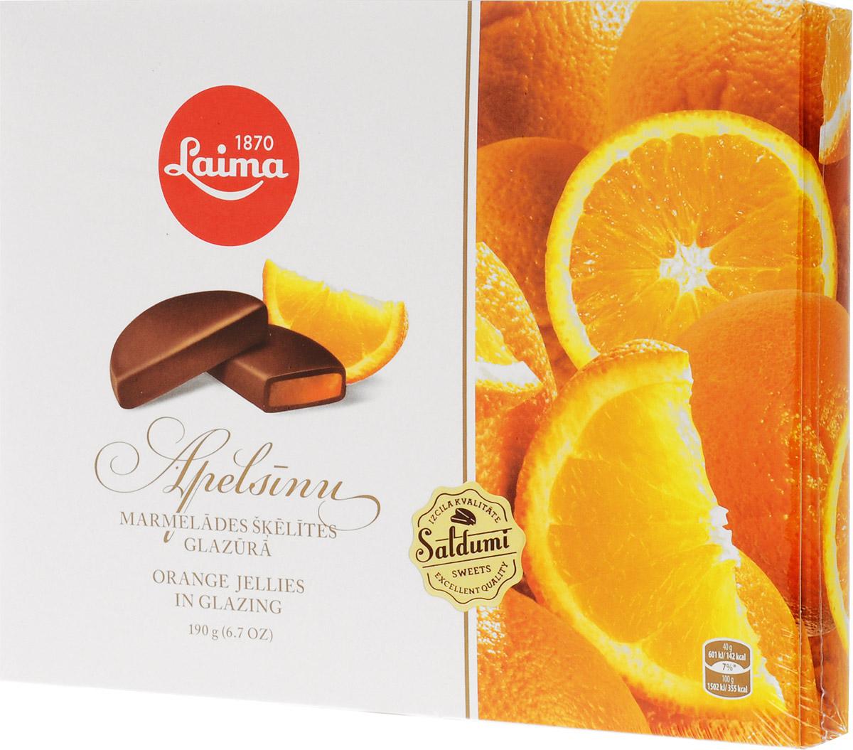 Laima Мармелад в шоколаде, 190 гP220208410Апельсиновый мармелад а темном шоколаде в виде долек в подарочном оформлении. Уважаемые клиенты! Обращаем ваше внимание на то, что упаковка может иметь несколько видов дизайна. Поставка осуществляется в зависимости от наличия на складе.