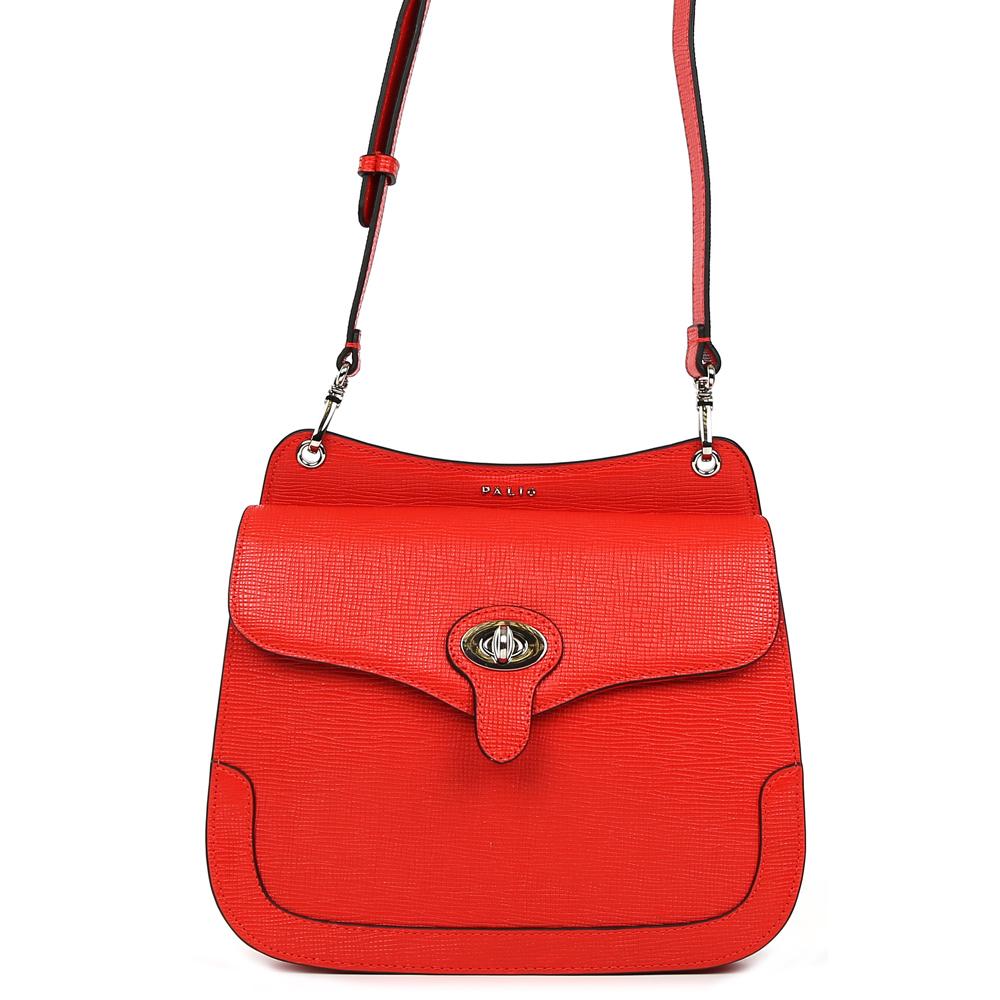 Сумка женская Palio, цвет: красный. 15090A-W1-343/33515090A-W1-343/335 redСтильная женская сумка кросс-боди Palio выполнена из натуральной плотной кожи , которая держит форму и имеет приятную на ощупь фактуру. Яркий красный цвет, стильная форма и ультрамодное тиснение на коже помогут дополнить и завершить любой утонченный образ. Изысканное крепление ручек и фурнитура в серебряном оттенке подчеркнет не только ваш великолепный вкус, но и внесет нотки элегантного итальянского шика в ваш гардероб. Кросс-боди имеет одно вместительное отделение, которое закрывается на удобный замок. Внутри сумки вы с легкостью сможете расположить свой сотовый телефон и другие женские мелочи с помощью удобного кармана. На тыльной части модели расположен отдел на молнии с кожаным поводком. Сумка компактна и не вмещает формат А4, длина плечевого ремня регулируется.