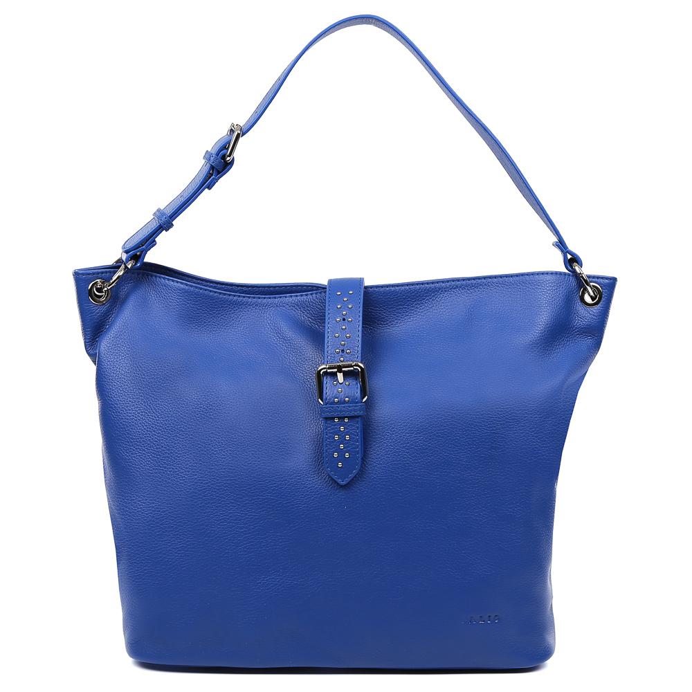 Сумка женская Palio, цвет: синий. 15100A-89515100A-895Стильная и вместительная сумка-шоппер Palio выполнена из натуральной кожи, которая имеет необыкновенно мягкую и приятную фактуру. Насыщенный синий цвет- одна из главных тенденций моды этого сезона, поэтому аксессуар придется по вкусу всем любительницам изысканности и практичности. Яркая фурнитура в стальном цвете и гвоздики-хольнитены подчеркнут ваш уникальный стиль, а вместительная лаконичная форма изделия дополнит любой повседневный образ. Внутри сумки находится одно вместительное отделение, которое разделяется отсеком на молнии. Наши дизайнеры уделили большое внимание удобству аксессуара: на внутренних боковых стенках они разместили карманы для различных женских мелочей. На тыльной части сумки расположено отделение, которое закрывается на молнию со стильным кожаным поводком. Аксессуар свободно вмещает папки и документы формата A4.