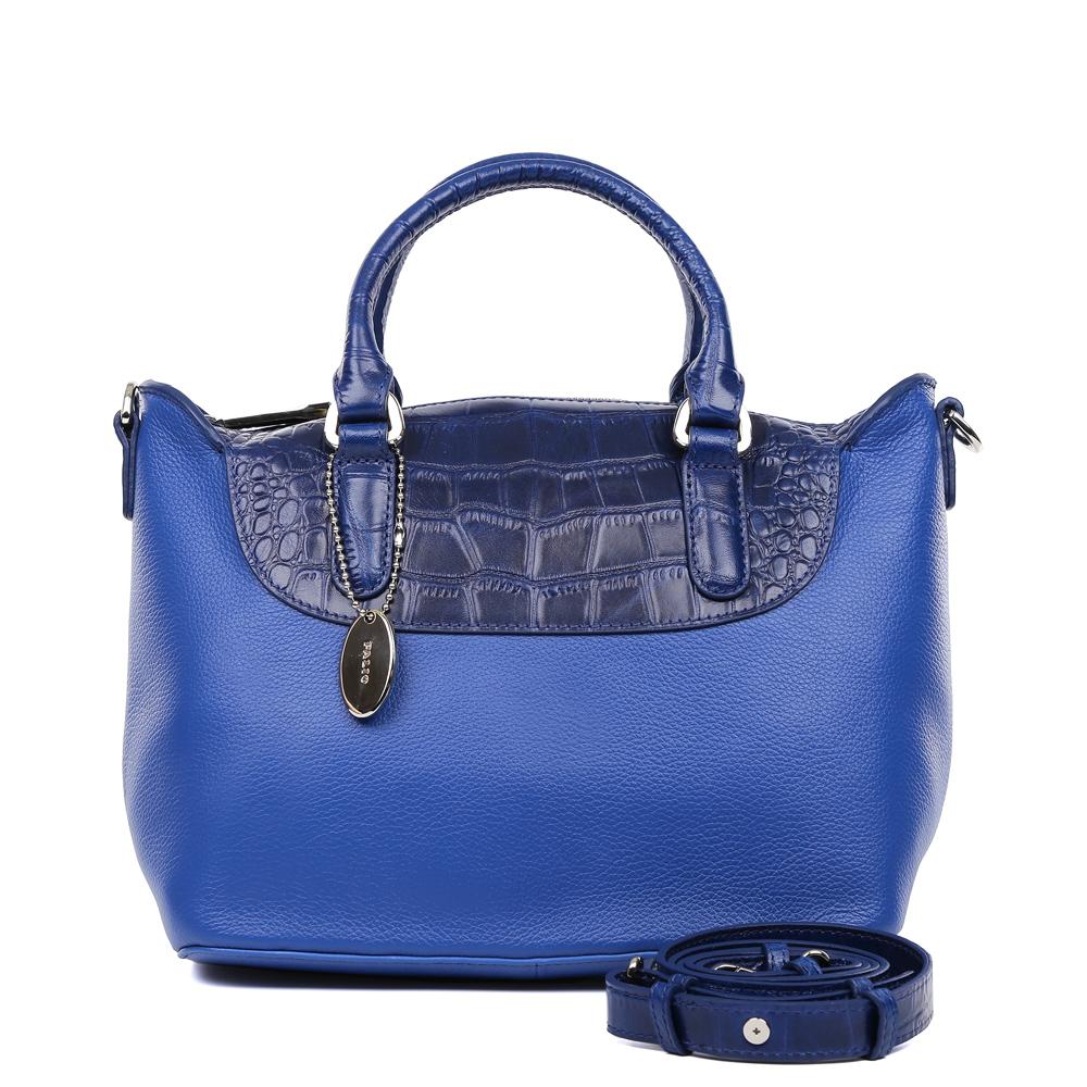 Сумка женская Palio, цвет: синий. 14714A2-W2-895/88614714A2-W2-895/886 blueИзысканная сумка Palio выполнена из натуральной плотной кожи, которая держит форму и имеет мягкую пористую фактуру. Аристократичный и глубокий коричневый оттенок, изысканная серебряная фурнитура и удобное крепление ручек – именно такая модель в этом сезоне должна быть в гардеробе каждой модницы. В отделке аксессуара дизайнеры использовали ультрамодное тиснение под рептилию. С таким изделием вы будете самой элегантной, как на деловой бизнес-встрече, так и на приятном дружеском ужине . Сумка имеет одно отделение, которое разделено отделением на молнии. Внутри аксессуара вы с легкостью расположите свой сотовый телефон и другие женские мелочи с помощью удобных и вместительных отсеков. Изделие очень компактно, не вмещает документы формата A4. В комплекте аксессуар имеет тонкий кожаный ремешок, благодаря которому сумку можно носить на плече.