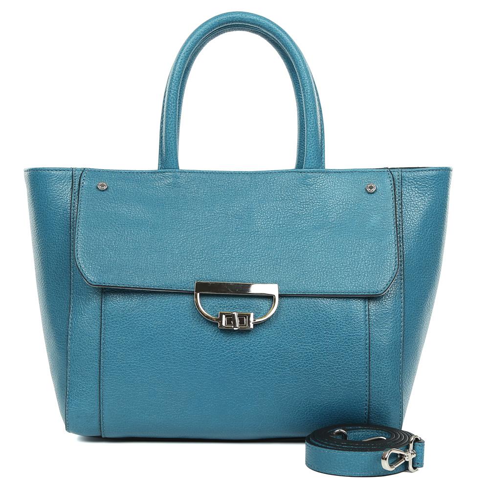 Сумка женская Palio, цвет: синий. 15052A1-W1-866/81415052A1-W1-866/814 blueИзысканная женская сумка Palio выполнена из натуральной пористой кожи, которая держит форму и имеет невероятно мягкую и приятную на ощупь фактуру. Элегантный синий оттенок, лаконичный дизайн, удобное крепление ручек и модная фурнитура придадут вашему образу нотки изящности, а также подчеркнут неповторимый и уникальный стиль. Сумка имеет одно вместительное отделение, которое разделено на два отсека карманом на молнии. Внутри сумки вы с легкостью сможете расположить свой сотовый телефон и другие женские мелочи с помощью удобных и вместительных карманов. Модель вмещает папки и документы формата A4, в комплекте имеется ремень, с помощью которого аксессуар можно носить на плече