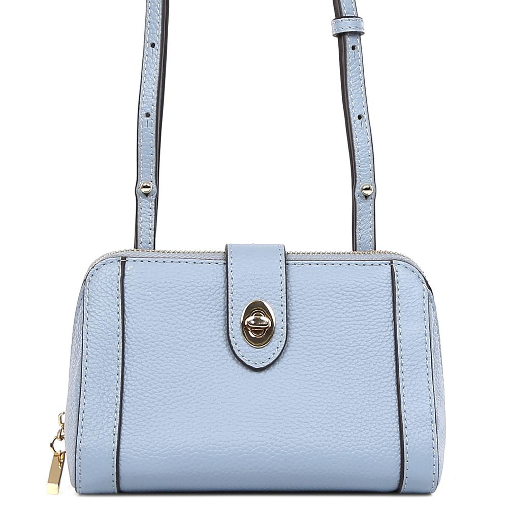 Сумка женская Fabretti, цвет: голубой. S1828S1828-blueСумка женскаяй бренда FABRETTI из натуральной кожи