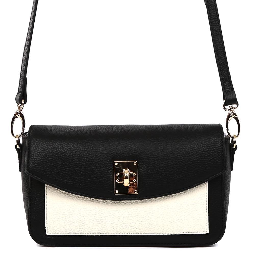 Сумка женская Fabretti, цвет: черный. S1900S1900-blackСумка женскаяй бренда FABRETTI из натуральной кожи