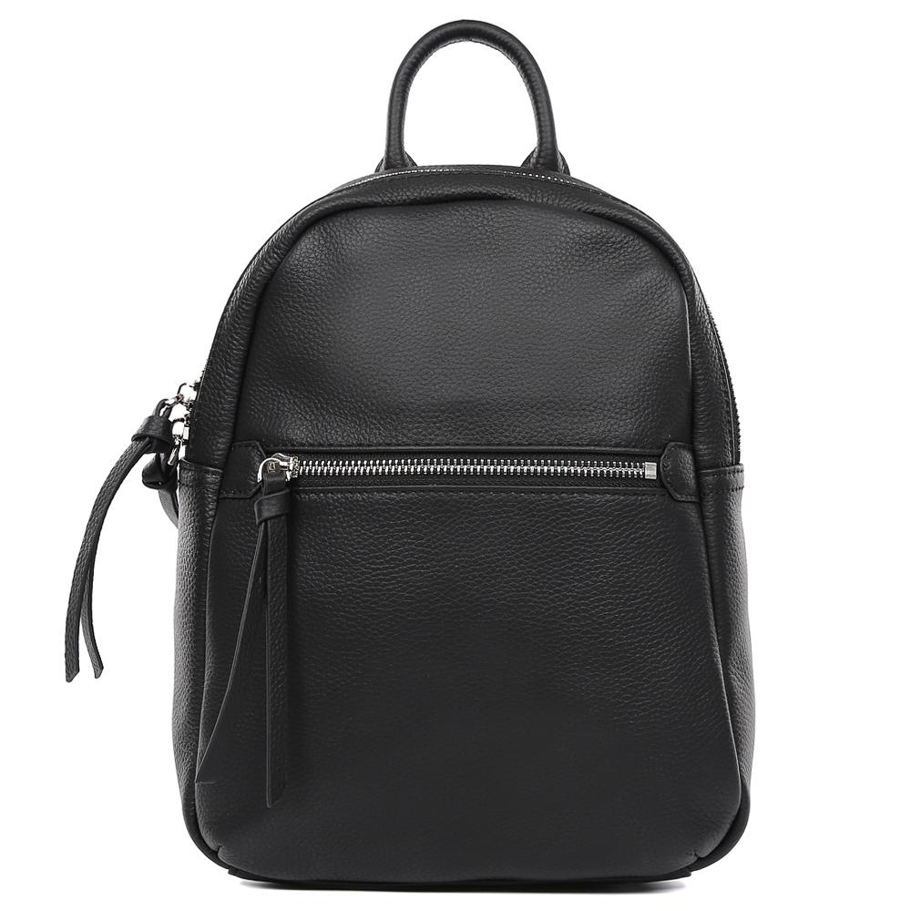Сумка женская Fabretti, цвет: черный. S1498S1498-blackРюкзак женский бренда FABRETTI из натуральной кожи