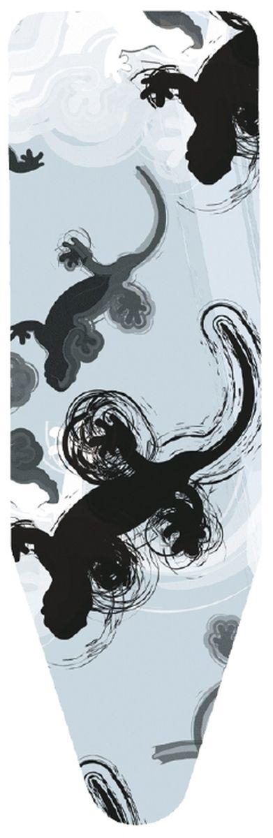 Чехол для гладильной доски Brabantia Ящерица, 124 см х 38 см. 191404191404Чехол для гладильной доски Brabantia Ящерица, выполненный из хлопка, с изображением забавных ящериц подарит вашей доске новую жизнь и создаст идеальную поверхность для глажения и отпаривания белья. Чехол разработан специально для гладильных досок Brabantia и подходит для большинства утюгов и паровых систем. Изделие оснащено подкладкой из поролона (2 мм). Благодаря системе фиксации (эластичный шнурок с ключом для натяжения и резинка с крючками по центру) чехол легко крепится к гладильной доске, а поверхность всегда остается гладкой и натянутой. С помощью цветной маркировки на чехле и гладильной доске вы легко подберете чехол подходящего размера. Комплектация: - чехол, - пластиковый ключ для натяжения шнурка, - резинка с крючками.