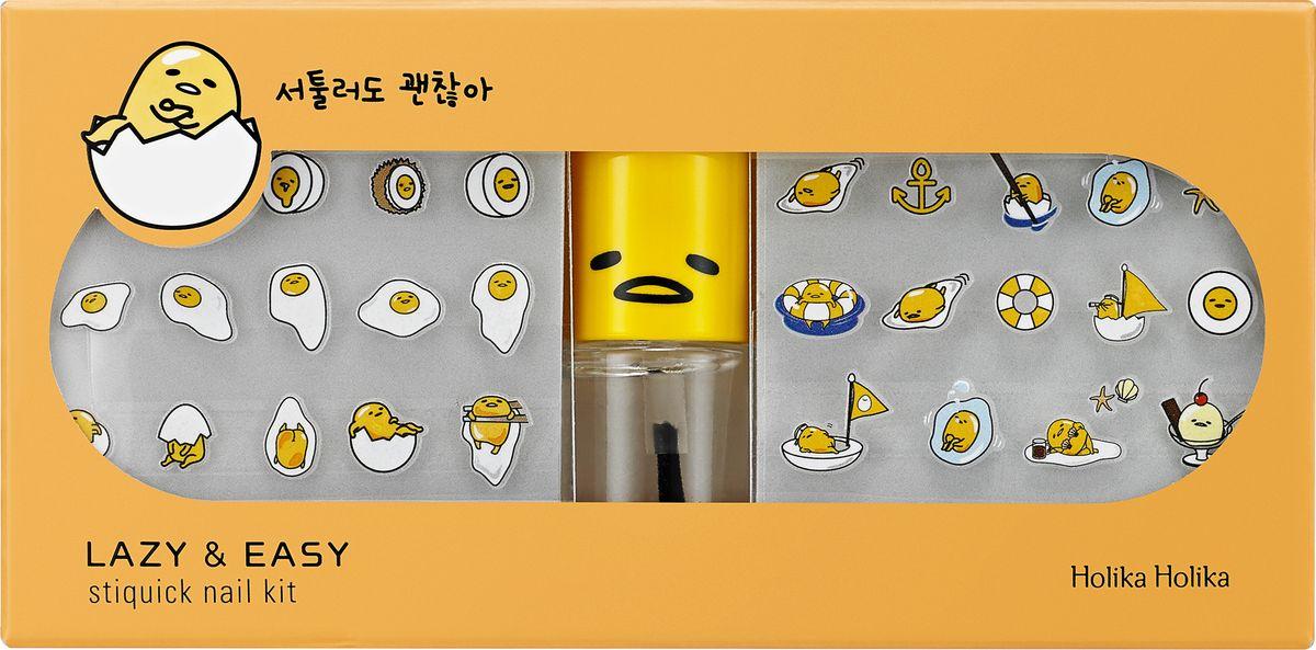 """Holika Holika Специальный набор наклеек для маникюра Гудетама - ленивое яйцо, 12 мл200135294755 Набор для маникюра с веселыми наклейками и специальным клейким составом для легкого нанесения наклеек на ногтевую пластину. Применение: Открыть упаковку, выбрать понравившиеся наклейки, отлепить защитную пленку с оборотной стороны наклейки и прикрепить к ногтю. Сверху покрыть защитным лаком-покрытием. Объём: 12 мл. Использовать до: см. на упаковке. Состав: Бутилацетат, этилацетат, нитроцеллюлоза, адипиновая кислота / неопентилгликоль / тримеллитика ангидрид кроссполимер, изопропиловый спирт, акрилат кроссполимер, стирен/акрилат сополимер, триметил пентанил диизобутират, дипропиленгликоль дибензоат, ароматизаторы, октокрилен, аргановое масло, гидролизованный соевый белок, гидролизованный кукурузный протеин, гидролизованный протеин пшеницы. Изготовитель: Enprani CO. Ltd., Республика Корея, 6F, Doowon Bldg.503-5, Sinsa-dong, Gangnam-gu, Seoul, 135-887. Импортер: ООО АЛЬЯНС ИМПОРТ. Дистрибьютор/Претензии принимаются: ООО ВОСТОЧНАЯ КРАСОТА"""", 119330, г. Москва, ул. Мосфильмовская,..."""