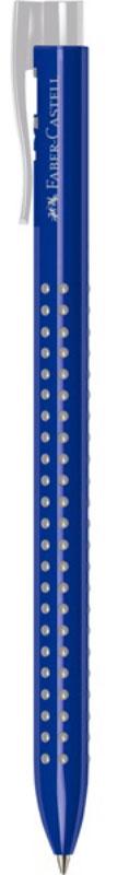 Faber-Castell Ручка шариковая Grip 2022 цвет корпуса синий544651Шариковая ручка Faber-Castell Grip 2022 имеет запатентованную антискользящую зону захвата с малыми массажными шашечками. Эргономичная трехгранная форма, качественный нажимной механизм и упругий клип обеспечивают комфорт при использовании ручки. Пригодна для письма на документах.