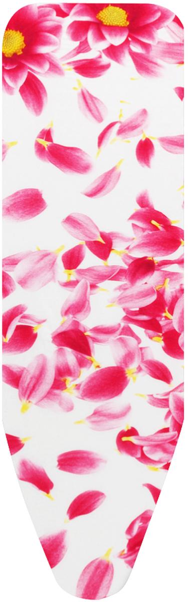 Чехол для гладильной доски Brabantia Perfect Fit, цвет: белый, розовый, 110 см х 30 см194801_белый, розовые цветыЧехол для гладильной доски Brabantia Perfect Fit, одна сторона которого выполнена из хлопка, другая - из поролона, предназначен для защиты или замены изношенного покрытия гладильной доски. Чехол снабжен стягивающим шнуром, при помощи которого вы легко отрегулируете оптимальное натяжение чехла и зафиксируете его на рабочей поверхности гладильной доски. В комплекте имеются ключ для натяжения нити и резинка с крючками для лучшей фиксации чехла. Этот качественный чехол обеспечит вам легкое глажение.