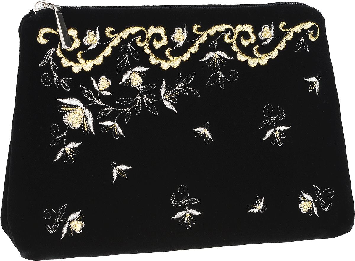Сумочка театральная. Бархат черного цвета, вышивка. Размер 22 х 15 см. Торжокские золотошвеи, Россия
