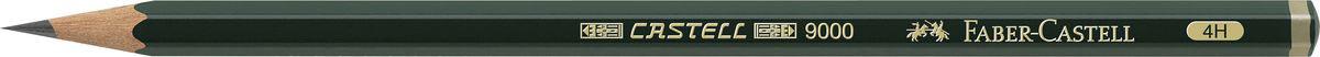 Faber-Castell Чернографитовый карандаш Castell 9000 твердость 4H119014Чернографитовый карандаш Faber-Castell Castell 9000 предназначен не только для письма, но и для эскизов и рисования. Специальная SV технология вклеивания грифеля предотвращает его поломку при падении, а высокое качество мягкой древесины обеспечивает легкое затачивание. Такой карандаш с чистым графитом не царапает бумагу, ровно и гладко ложится, хорошо штрихует, передавая воздушность и светотени. Твердость: 4H.