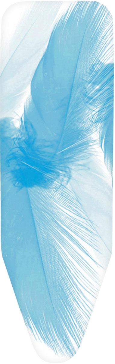 Чехол для гладильной доски Brabantia Перышко, 124 см х 38 см. 265006265006Чехол для гладильной доски Brabantia Перышко, выполненный из хлопка, с ярким изображением перьев подарит вашей доске новую жизнь и создаст идеальную поверхность для глажения и отпаривания белья. Чехол разработан специально для гладильных досок Brabantia и подходит для большинства утюгов и паровых систем. Изделие оснащено подкладкой из поролона (4 мм). Благодаря системе фиксации (эластичный шнурок с ключом для натяжения и резинка с крючками по центру) чехол легко крепится к гладильной доске, а поверхность всегда остается гладкой и натянутой. С помощью цветной маркировки на чехле и гладильной доске вы легко подберете чехол подходящего размера. Комплектация: - чехол, - пластиковый ключ для натяжения шнурка, - резинка с крючками.